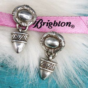 Brighton Southwest Triangle Silver Post Earrings